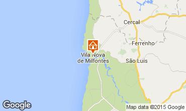 Mapa Vila nova de Milfontes Apartamento 42568