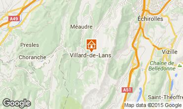 Mapa Villard de Lans - Corren�on en Vercors Apartamento 3691