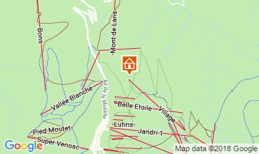 Mapa Les 2 Alpes Apartamento 116800