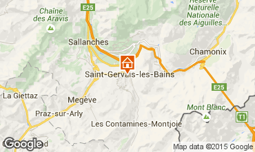 Mapa Saint Gervais Mont-Blanc Apartamento 66211