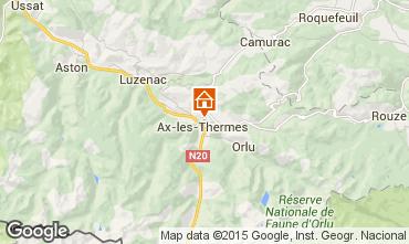 Mapa Ax Les Thermes Casa 65423