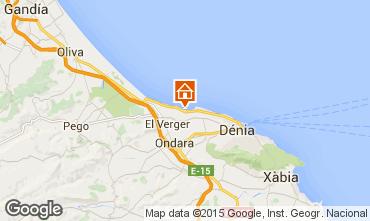 Mapa Denia Apartamento 101883