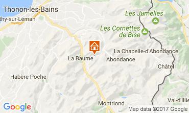 Mapa Abondance Chalet 38701