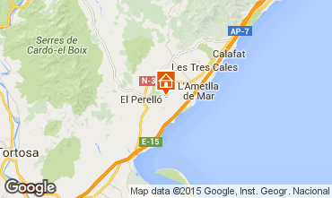 Mapa La Ametlla de Mar Casa rural 96099