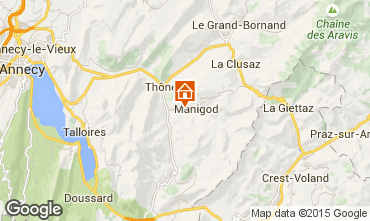 Mapa La Clusaz Chalet 60510