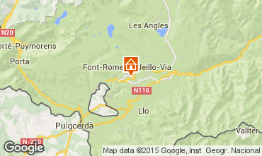Mapa Font Romeu Apartamento 64929