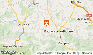 Mapa Bagn�res de Bigorre Casa 92839