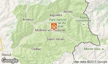 Mapa Molines-en-Queyras Casa rural 100503