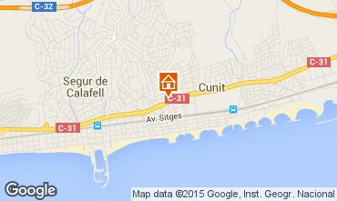 Mapa Calafell Apartamento 61392