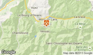 Mapa Les 2 Alpes Apartamento 91727