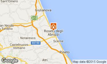 Mapa Roseto degli Abruzzi Apartamento 53920