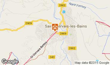 Mapa Saint Gervais Mont-Blanc Estudio 2546