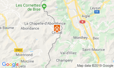 Mapa Châtel Apartamento 117775