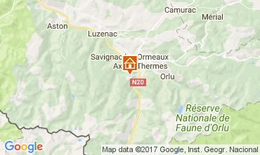 Mapa Ax Les Thermes Apartamento 3924