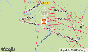 Mapa Les 2 Alpes Apartamento 49459