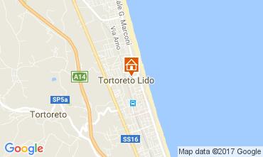 Mapa Tortoreto Apartamento 110561