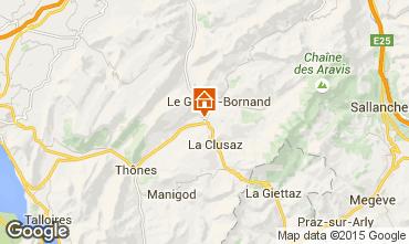 Mapa La Clusaz Chalet 84818