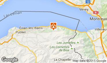 Mapa Thollon Les Mémises Apartamento 39863