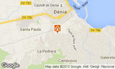Mapa Denia Apartamento 75156