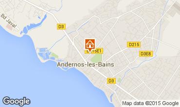Mapa Andernos les Bains Apartamento 62761