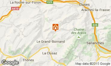 Mapa Le Grand Bornand Chalet 1363