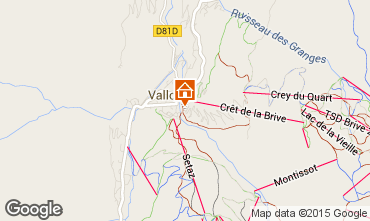 Mapa Valloire Apartamento 26150