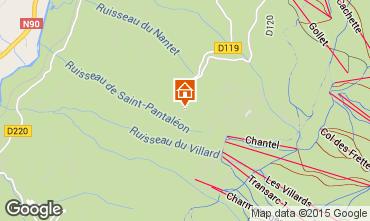 Mapa Les Arcs Chalet 213