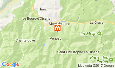 Mapa Les 2 Alpes Apartamento 111741