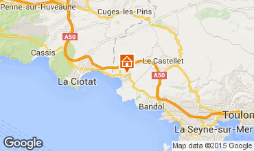 Mapa Saint Cyr sur Mer Villa 94101