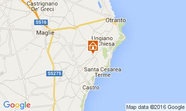 Mapa Santa Cesarea Terme Apartamento 104130