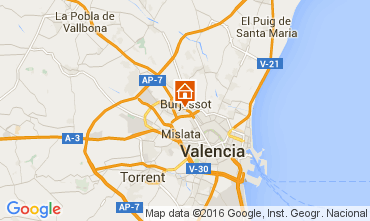 Mapa Valencia habitaci�n de hu�spedes ins�lita  103679