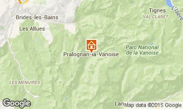 Mapa Pralognan la Vanoise Apartamento 93265
