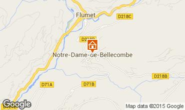 Mapa Notre Dame de Bellecombe Apartamento 97632