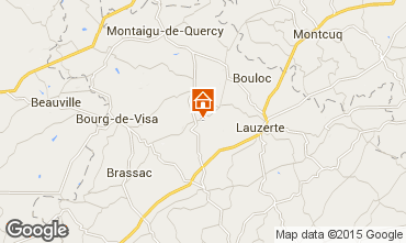 Mapa Lauzerte Casa rural 69957