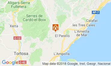Mapa La Ametlla de Mar Casa rural 110680