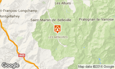 Mapa Les Menuires Chalet 102203