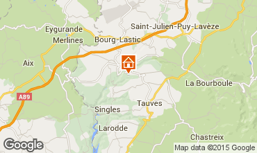 Mapa La Bourboule Casa rural 70672
