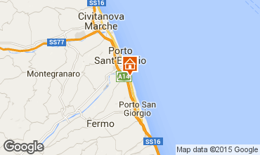 Mapa Porto San Giorgio Bungalow 85039
