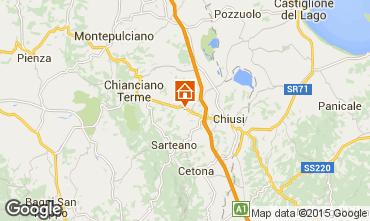 Mapa Chianciano Terme Villa 91371