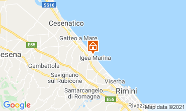 Mapa Bellaria Igea Marina Apartamento 107978
