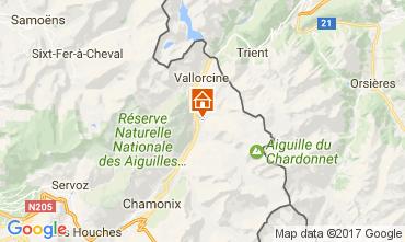 Mapa Chamonix Mont-Blanc Chalet 706
