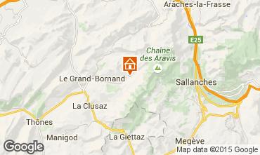 Mapa Le Grand Bornand Apartamento 101025