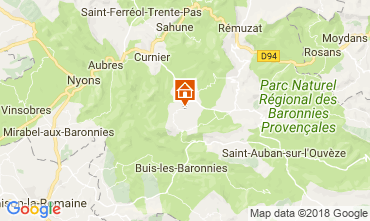 Mapa Buis les Baronnies Casa rural 12573
