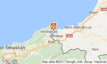 Mapa Hendaya Apartamento 112304