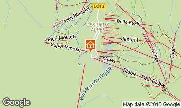 Mapa Les 2 Alpes Apartamento 1167