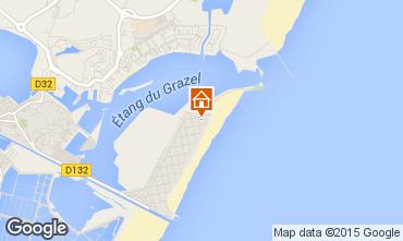 Mapa Gruissan-Plage Estudio 75969