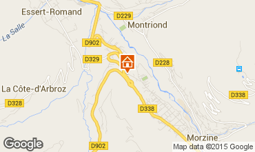 Mapa Morzine Apartamento 82300