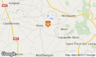 Mapa Monpazier Casa rural 28762