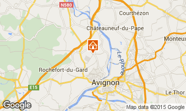 Mapa Villeneuve lez Avignon Casa rural 86441