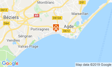 Mapa Cap d'Agde Mobil home 118020